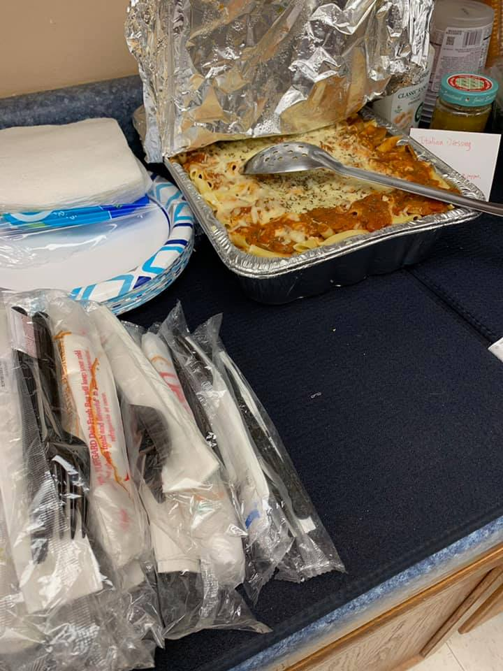 Food for volunteers